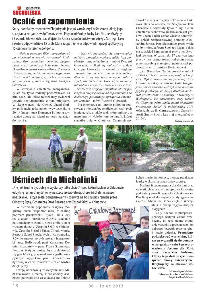 Koncert Charytatywny dla Michaliny Chludowo 2013