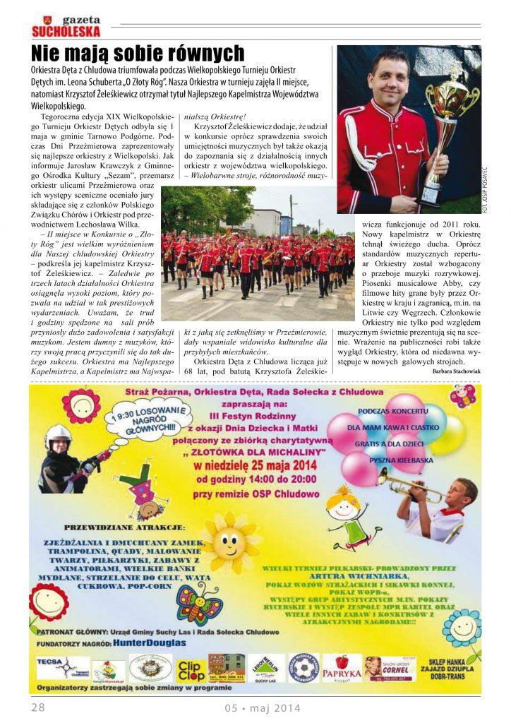 Konkurs Orkiestr Złoty Róg 2014 Przeźmierowo