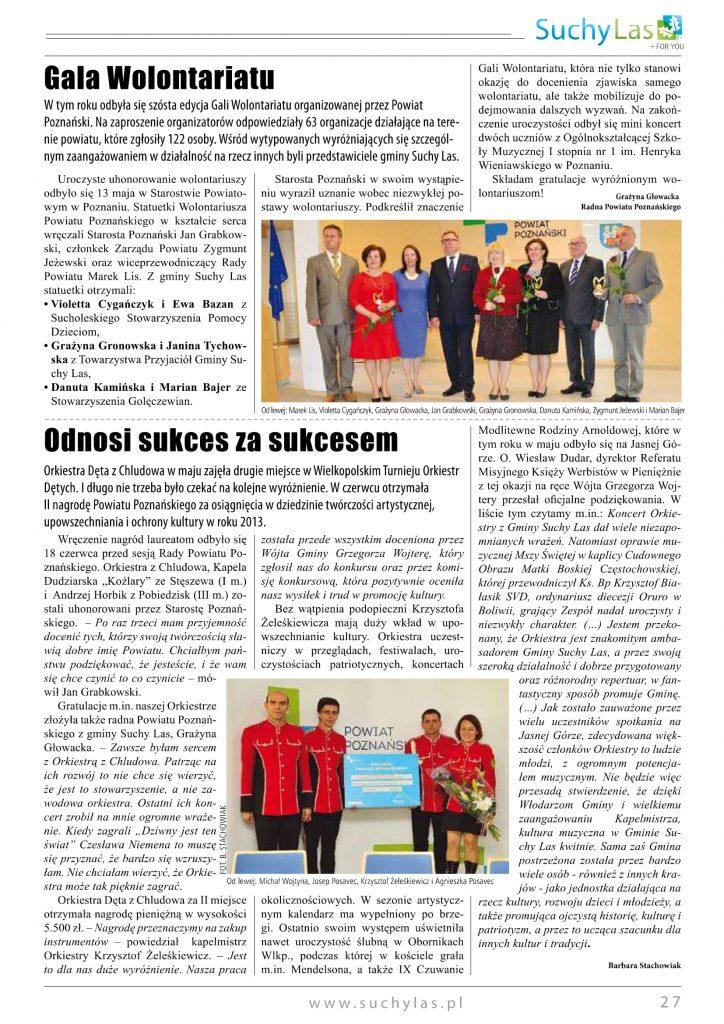 Wręczenie nagrody Starosta Poznański 2014