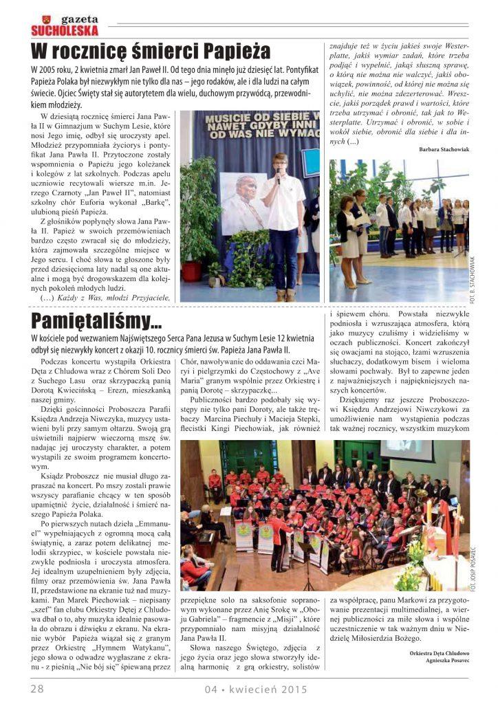 koncert Papieski Suchy Las 2015